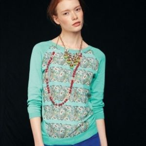 MOTH Anthropologie NWT Paisley Sweater M